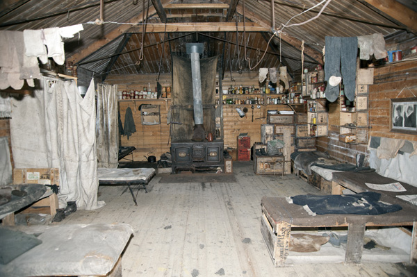 Inside Shackelton's Hut